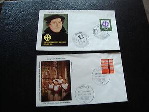 Germany-Rfa-2-Envelopes-1er-Day-1959-1962-cy59-Germany