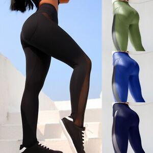 dac7777d4bd Woman Workout Yoga Leggings High Waist Tummy Control Gym Sport Slim ...