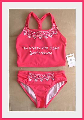 Gymboree Coral Pink Tankini Swimsuit 2-piece NWT 3 4 5 6 7 8 9 10 12