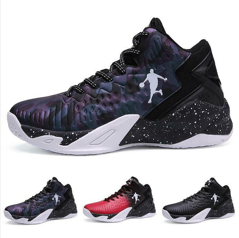 Men's Basketball High Top Round Toe Cross Strappy Comfort Breathable shoes New