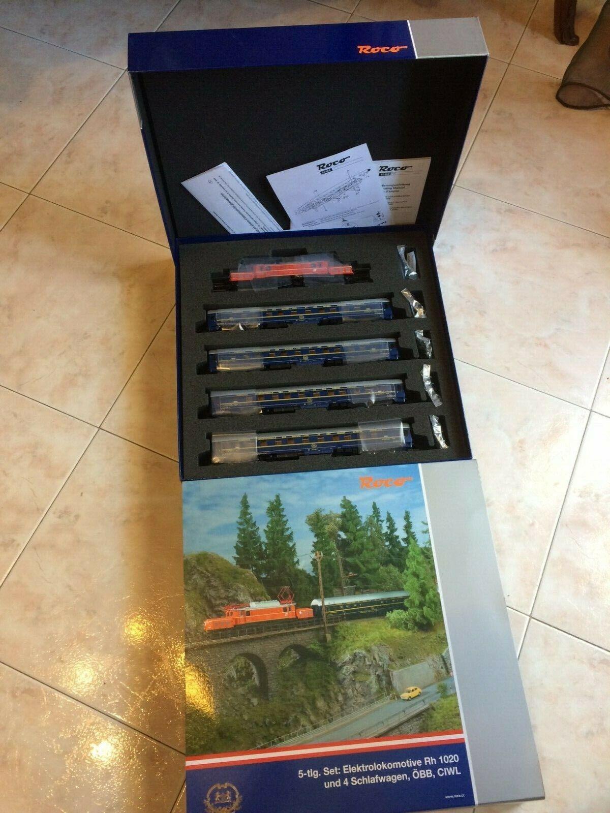 Entrega directa y rápida de fábrica Roco  61468 - Set con E-Lok OBB  Gruppo Gruppo Gruppo Rh 1020 con 4 Cocherozze Digital    más orden