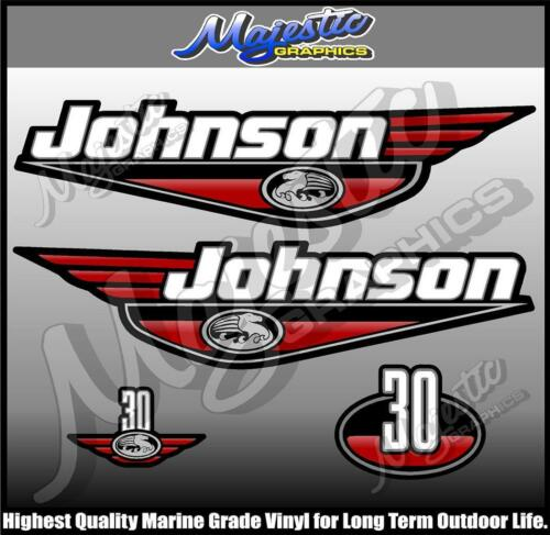 30 hp OUTBOARD  DECALS RED DECAL SET JOHNSON