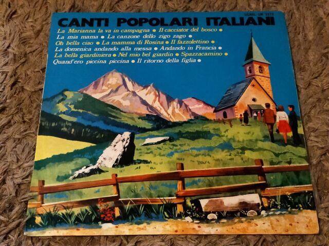 """Canti Popolari Italiani 12"""" vinyl LP album"""