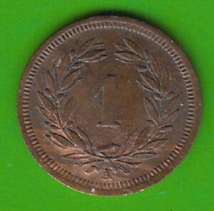Mutig Schweiz 1 Rappen 1850 Sehr Hübsch Seltener Jahrgang Nswleipzig