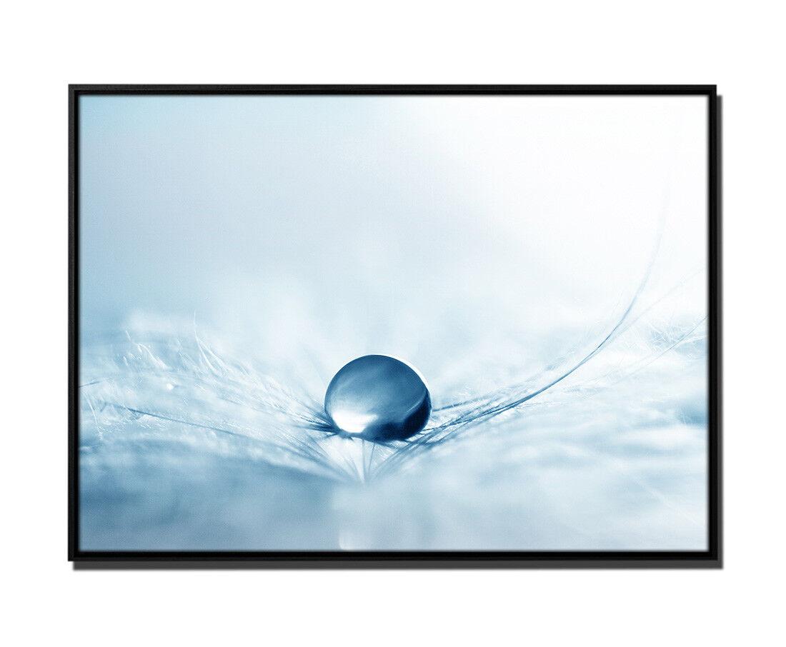 105x75cm Leinwandbild Petrol Dekoration Abstrakt Komposition Makro-Bild Ball