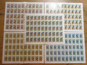 Ungarn-2856-2860-Boegen-gestempelt-Bogen-mit-Motiv-Voegel-Birds-Singvoegel-used
