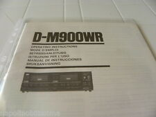 Sansui  D-M900WR Owner's Manual  Operating Instructions Istruzioni New