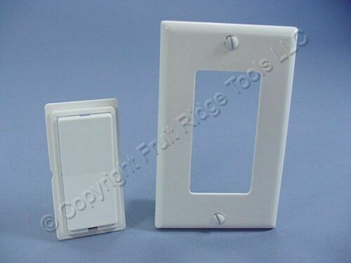 Leviton DHC White Color Change Conversion Kit for Decora Rocker Switch 6091-W