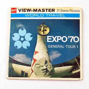 Vintage View-Master Reel Packet Set B268 EXPO '70 Osaka Japan General Tour 1