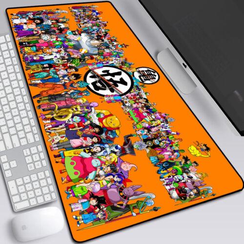 Dragon Ball Wukong Bulma Vegeta Large Mouse Pad Desktop Keyboard Anime Mat Hot