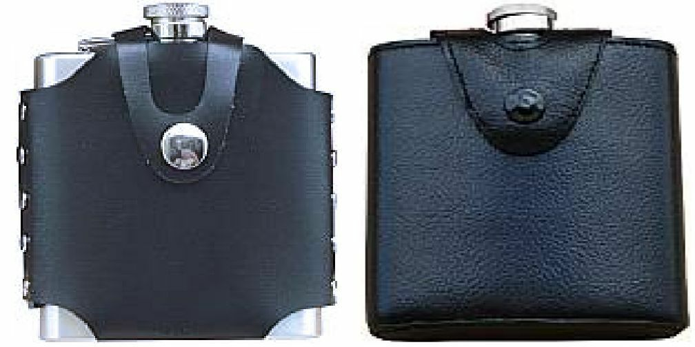 6 Oz Hip Flask w  Carrying Carrying Carrying on Belt Pouch  Bulk Lot of 10, 25  & 50 From USA 656b3c
