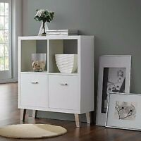 Modern Sideboard Cabinet Furniture Retro White Wooden Cupboards Shelves Storage