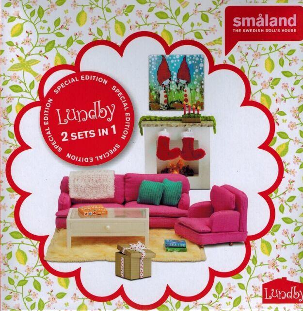 Lundby 60 2083 99 Wohnzimmer Mit Kaminecke Special Edition Ebay