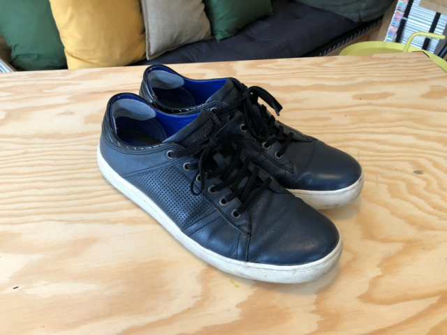 Sneakers, KENNETH COLE, str. 46,5,  Mørkeblå,  Læder,  God…