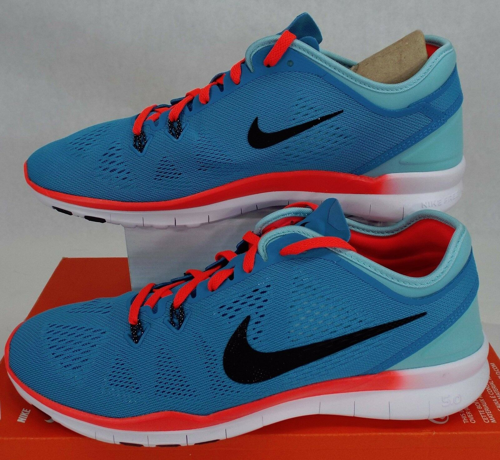New Womens 10.5 NIKE Free 5.0 TR Fit 5 Blue Lagoon Shoes 100 704674-401