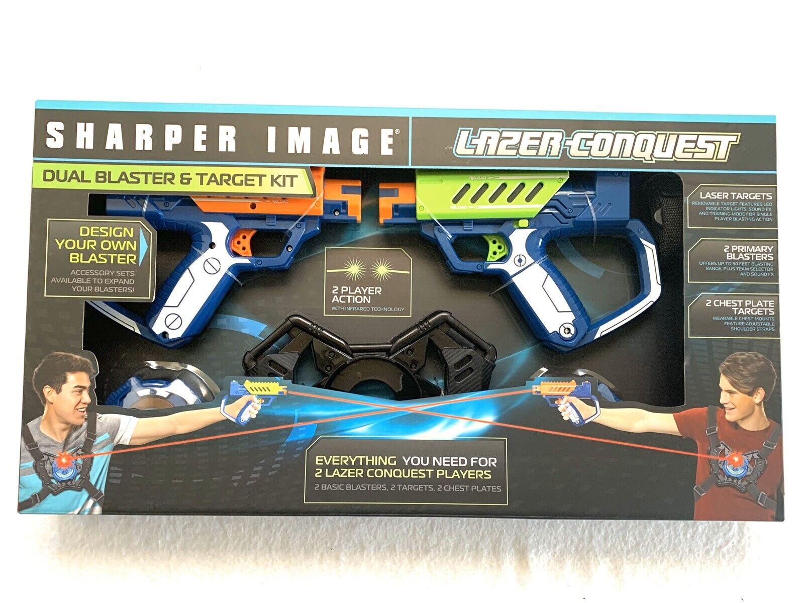 Sharper Image Laser Conquest-Dual Blaster & Target Kit