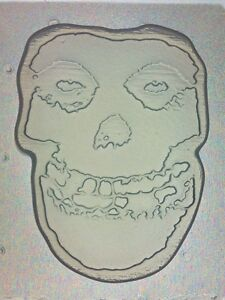 Flexible Mold Cowboy Skull Resin Chocolate Or Soap Mould