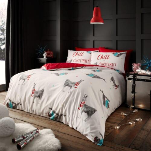 Snow globe Sloth Christmas Stage Duvet Cover Set Xmas Quilt Bedding Set All Size