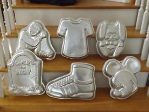 Wilton Cake Pan Mold Lot 6 Zack Power Ranger Sneaker
