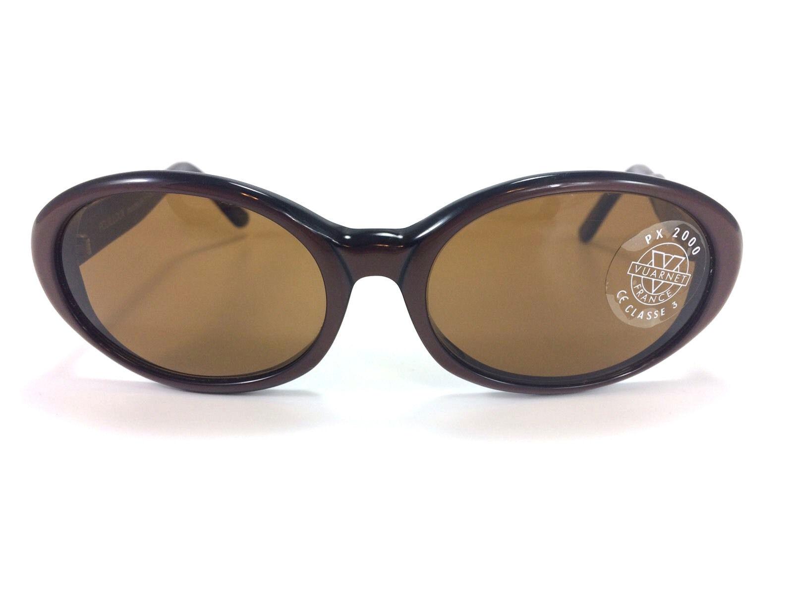B1 NEW Vtg Deadstock Vuarnet Pouilloux Handmade France REF 074 Brown Sunglasses