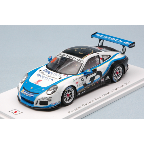 PORSCHE 911 GT3 CUP N.9 JAPAN CHAMPION 2017 SHINJI TAKEI 1:43 Spark Model