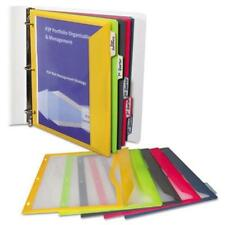 C-Line Products 06650 Binder Pocket With Write-on Index Tabs 8-1/2 X 11