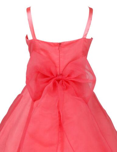 Girls Kids Dresses Festive Long Princess Bridesmaid Wedding Dress