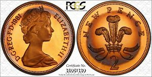 1981-GREAT-BRITAIN-2-PENCE-COIN-PCGS-PR65-COLOR-TONED-BEAUTY-TRUEVIEW