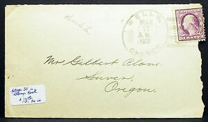 US-Postal-History-Cover-upside-down-11-Date-Cancel-Wells-1918-USA-Letter-H-8029