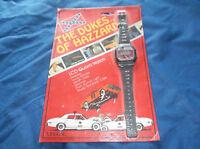 "Vintage 1981 Unisonic ""The Dukes of Hazzard"" LCD Quartz Watch MIP"