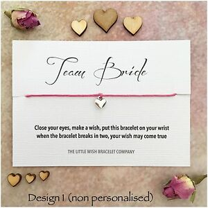 image is loading team bride wish bracelet hen party bridal shower