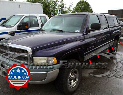 fits 98-01 Dodge Ram Extended//Club Cab Short Bed Chrome Rocker Panel Trim 5 3//4/""