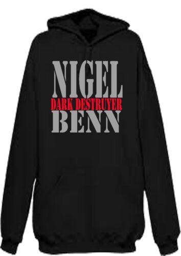 Nigel Benn Boxe Cacciatorpediniere Scuro Felpa Con Cappuccio Felpa Con Cappuccio Legends CHAMPION Trainning peso