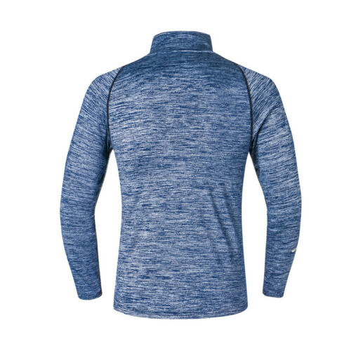 Men/'s 1//4 Zip Mock Neck Active Pullover Athletic Long Sleeve Sport Gym T Shirt