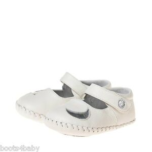 Baby-Girls-Infant-Toddler-White-Soft-Sole-REAL-Leather-Cruiser-Shoes-Moon-amp-Star