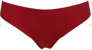 Pack of 3 Red,Pink /& Black No VPL Low Rise Thongs Size Small