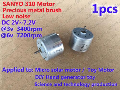 DC 1.5V 3V 6V 7200RPM Micro Mini 310 DC Motor Mute Solar Motor for DIY Parts