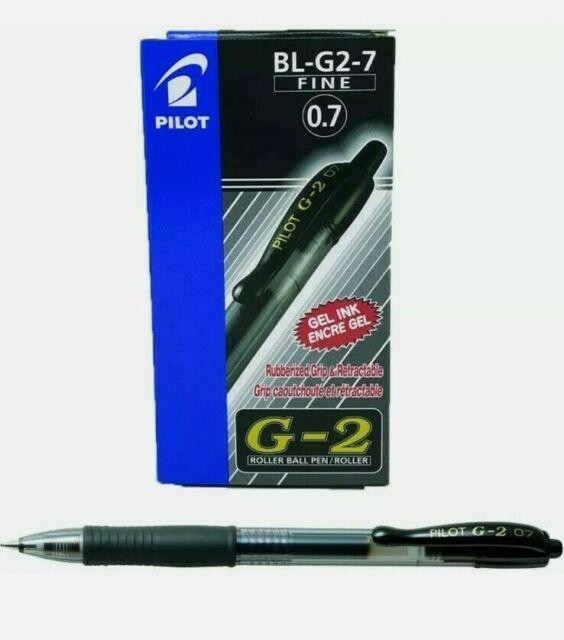Pilot G2 07 Black Fine Retraibile Gel Penna a Inchiostro Sfera 0.7mm 12 PEZZI
