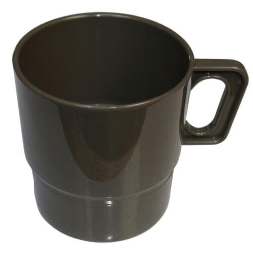 MFH camping vaisselle pour 4 personnes 26 pièces assiette tasses couverts plastique Olive