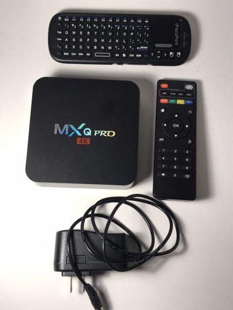 MXQ Pro KODI 17.6 4K HD Ultra Android 7.1 Quad Core 64 Bit Smart TV Box+Keyboard