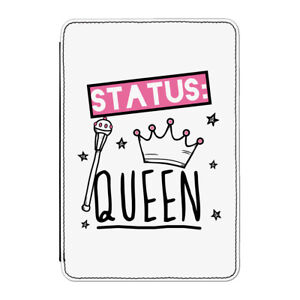 Status-Queen-Case-Cover-for-Kindle-6-034-E-reader-Funny-Girly-Girls