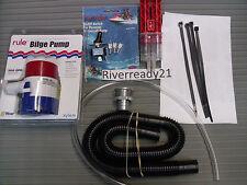 Universal Bilge Pump Kit Boat PWC Sea-Doo Wave-Runner Jet-Ski Rule 500 gph