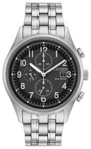 Citizen-Eco-Drive-Men-039-s-Chandler-Chronograph-Silver-Tone-42mm-Watch-CA0620-59H