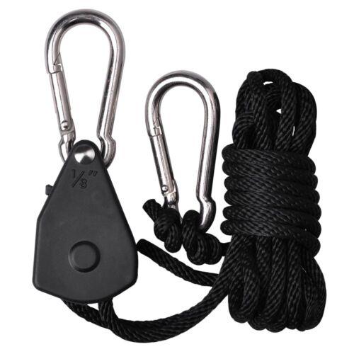 2x Grow Light Rope Yoyo Hanger Heavy Duty 150lb Adjustable for Indoor Grow Tent