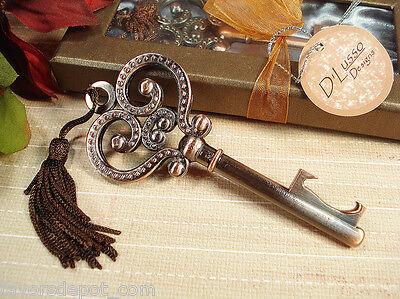 119 Skeleton Key Bottle Opener Bridal Shower Favor Wedding Favors Vintage