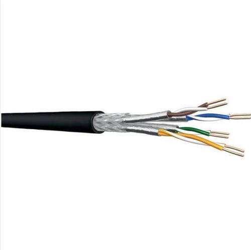 CAT7 110m Ring Erdkabel schwarz Netzwerkkabel UC900 SS23 4P K7 PE 1000Mhz Meter