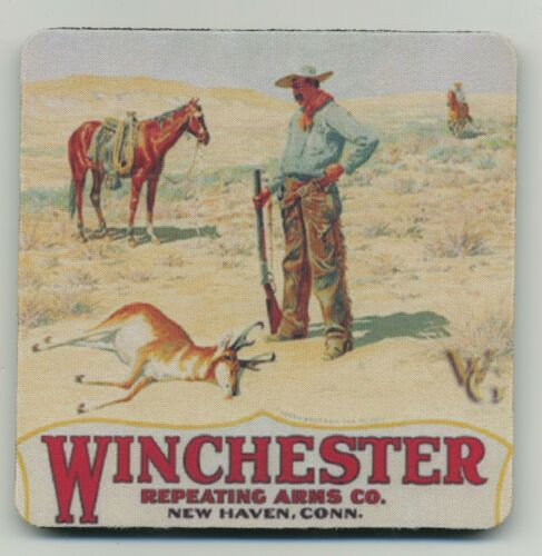 Antelope Hunt on Horseback Winchester Repeating Arms COASTER