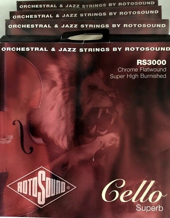 Cello Strings, RotoSound RS-3000 Chrome Flatwound