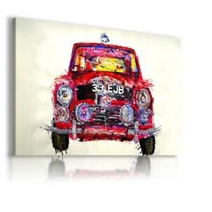 PAINTING DRAWING RED CAR PRINT CANVAS WALL ART PICTURE  WS82   MATAGA