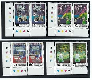 Stamps-1986-1-8-Singapore-25-yrs-of-industrial-progress-stamp-set-pair-of-2